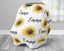 sunflower infant seat cover baby girl