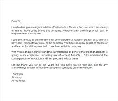 Example Of Letter Resignation Urgent Immediate X Sample Bitwrk Co