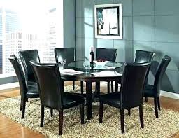 round tables with lazy susan dining table built in room patio umbrella hole