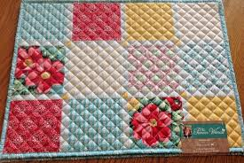 Pioneer Woman Diamond Patchwork Quilted Placemats Set of 4 Country ... & Picture 1 of 2 ... Adamdwight.com