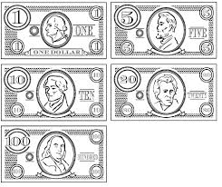 Play Money Coloring Pages Printable Play Money Coloring Pages