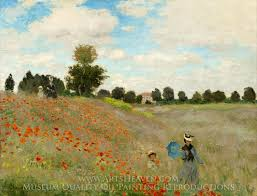claude monet field of poppies argenteuil oil painting reion