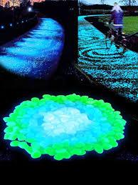 specifications of 100pcs glow in the dark garden pebbles glow stones rocks for walkways garden path patio lawn garden yard decor luminous stones