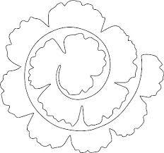 Free Paper Flower Templates Printable Free Paper Rose Template Free Paper Rose Template Paper Rose