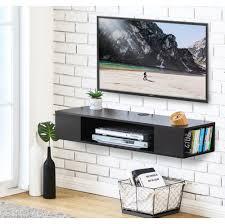 fitueyes floating shelf tv wall mounted