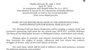 story of our history road show of the historya cultural dance  story of our history road show of the historya cultural dance production for school year 2016 2017 teacherph