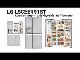 lg counter depth refrigerator lsc22991st sidebyside lg counter depth refrigerator61