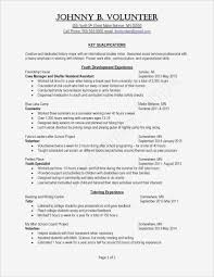 Resume Template For College Student Inspirational Free Student