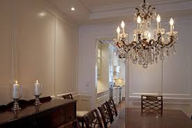 impressive schonbek in dining room traditional with rustic chandelier next to gypsum board alongside kitchen chandelier
