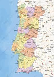 Digital political map of Portugal 1460
