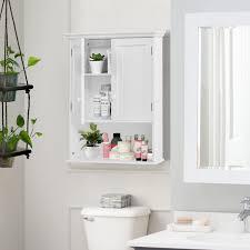costway wall mount bathroom cabinet storage organizer medicine cabinet kitchen laundry 1