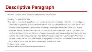 paragraph descriptive essay term paper 5 paragraph descriptive essay term paper