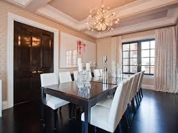 best height for dining room chandelier with dark wood flooring ideas