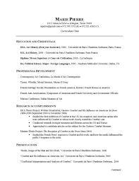 Cv Exemplars Researcher Cv Example