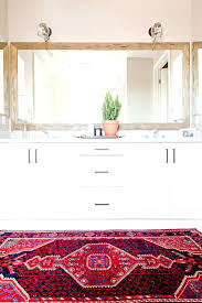 rugs for bathrooms white bathroom brightened by a colorful vintage rug bathroom rugs sets canada palm