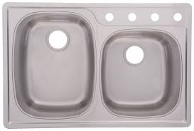 franke osk954 18bx offset double bowl stainless steel 33x22in topmount sink kitchen top mount com