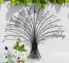 on wall art garden uk with outdoor metal glass bead bouquet garden wall art h55cm 14 99