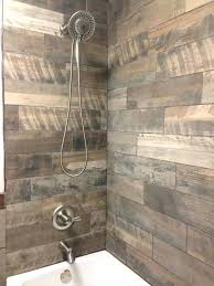 rustic wall tiles rustic bathroom wood tile tub shower surround reclaimed wood tile by rustic wall