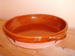 Resultado de imagen de cazuela de barro con agua