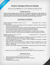 Resume Objective For Graphic Designer Graphic Design Resume Sample Writing Tips Resume Companion 31