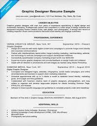 Resume Objective For Graphic Designer Graphic Design Resume Sample Writing Tips Resume Companion 31