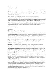 Great Retail Resume Examples Retail Resume Summary Statement Najmlaemah 29