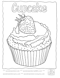 Small Picture Cupcake With Flower On It Coloring Pages Cookie Coloring Pages
