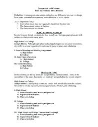 Comparative Essay Format Comparison Essay Thesis Example This