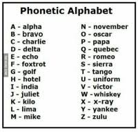 I used the nato phonetic alphabet to help them understand the letters i was saying. 25 Best Alpha Bravo Charlie Delta Memes Knight Memes Victor Memes Out Memes
