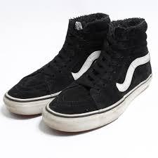 vans vans sk8 hi high top inside boa leather higher frequency elimination sneakers us7