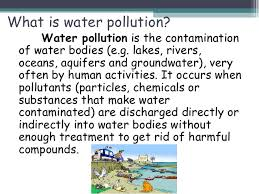 water pollution water pollution reported by group i 2