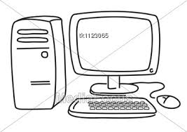 computer clipart black and white. Exellent And In Computer Clipart Black And White O