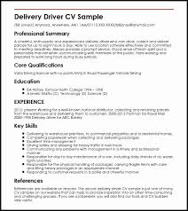 The Best Delivery Driver Job Resume Sample New Deliveryiver Resume