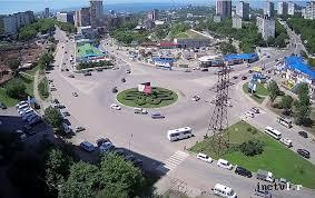 Веб камера Владивостока, <b>кольцо</b> на проспекте <b>Красного</b> Знамени