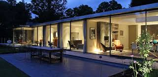 architecture houses glass. Simple Architecture Modernglasshousenightview And Architecture Houses Glass