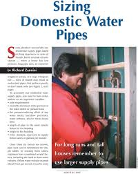 Domestic Water Pipe Sizing Chart Sizing Domestic Water Pipes Some Plumbers Successfully Size