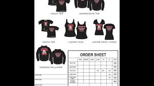 T Shirt Order Forms T Shirt Order Form Template Excel YouTube 23