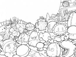 Small Picture All Plants From Plants Vs Zombies Coloring Page Kids Printable