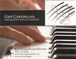 Piano Certificate Template Specials And Gift Certificates Keynotes Piano Studio