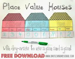 a muslim homeschool: Printable Place Value Houses with mini white ...