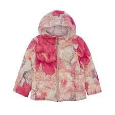 roberto cavalli kids girls pink fl print hooded jacket