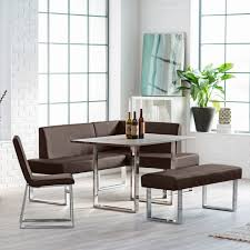 leather breakfast nook furniture. Mesmerizing Brown Leather Breakfast Nooks With Square Table Using Aluminiujm Folding Legs Nook Furniture L