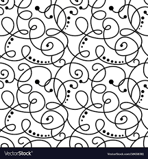 Curly Patterns And Designs Curly Seamless Pattern
