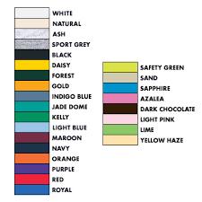 Gildan G8000 Color Chart G8000 Gildan 50 50 Heavyweight Ultra Blend Tee