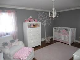 10 10 pink and gray classic nursery room view