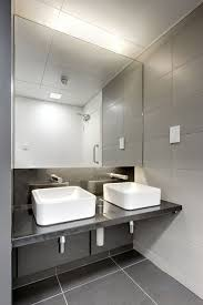bathroom office. Simple Yet Modern Commercial Bathroom Sinks - Plain White On A Black Counter With Silver Office M