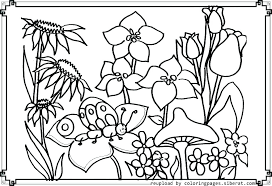 Pictures Of Coloring Pages Of Flowers Coloring Pages With Flowers G