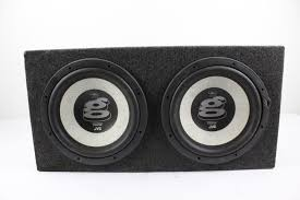 speakers in box. jvc cs-wg1200 warren g 12-inch subwoofer speakers in box | property room r