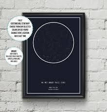 Etsy Star Chart Custom Star Map Star Map Poster Star Chart Night Sky