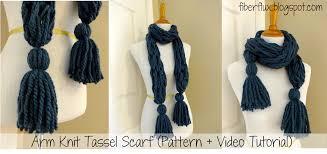 Arm Knitting Patterns Cool Fiber Flux Free Knitting PatternArm Knit Tassel Scarf
